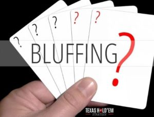 Bluffing in Texas Holdem